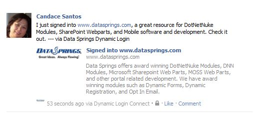 DNN Store > Home > Product Details > Dynamic Login 5.0 - Data ...